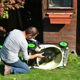 tondeuse électrique batterie carter coupe mulching